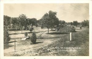 Fort Dodge Kansas~Veterans Soldier's Home Park~Footbridge~1940s Real Photo~RPPC
