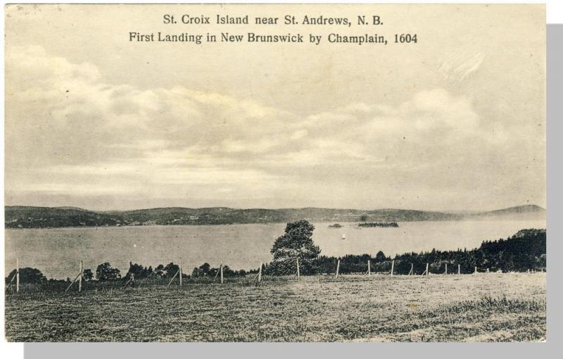St Andrews,New Brunswick/ NB Canada Postcard,St Croix Island