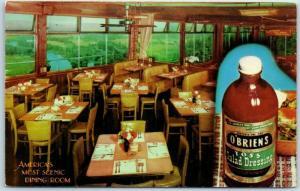 Waverly, New York  Postcard O'Brien's Restaurant Salad Dressing Bottle c1950s