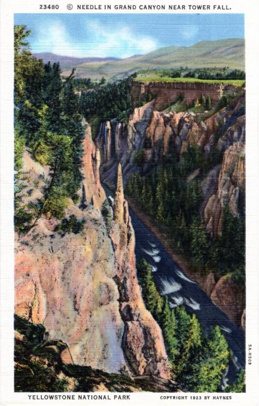 YELLOWSTONE NATIONAL PARK Haynes Linen Series.  23480.