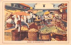 Markt in Oud Batavia Indonesia, Republik Indonesia Unused