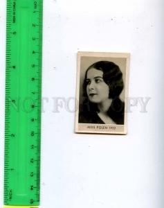 188461 Miss POLAND 1932 year Vintage photo CIGARETTE card