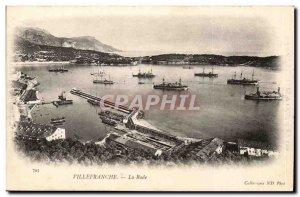 Villefranche - La Rade - boat - Old Postcard
