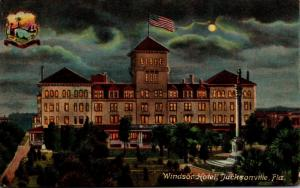 Florida Jacksonville The Windsor Hotel At Night 1909