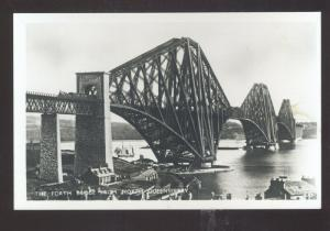 RPPC NORTH QUEENSFERRY ENGLAND UK THE FORTH BRIDGE REAL PHOTO POSTCARD
