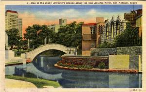 TX - San Antonio. Riverwalk Scene
