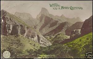 south africa, The Drakensberg (ca. 1930) Tinted RPPC