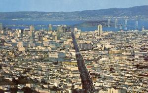 CA - San Francisco. Panoramic View, 1950's