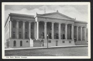 City Hall Macon Georgia Unused c1940s