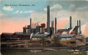 F15/ Birmingham Alabama Postcard c1915 Sloss Furnace Factory