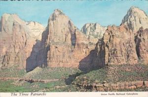 Utah The Three Patriarchs Zion National Park