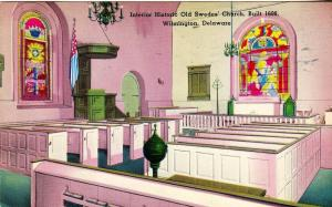 DE - Wilmington. Old Swede's Church Interior