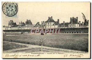 Old Postcard Fontainebleau Palace Facade on the Parterre