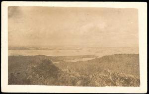 cuba, Guantanamo Bay, Panorama, US War Ships (1915) RPPC