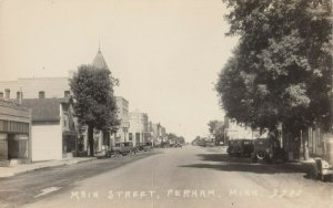 RP: PERHAM , Minnesota , 1910s ; Main Street