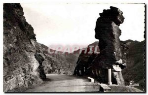 Postcard Old Route des Grandes Alpes Gorges Daluis Tete Female Silhouette has...