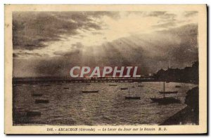 Old Postcard Arcachon Daybreak On Basin