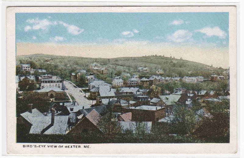 Panorama Dexter Maine 1920c postcard
