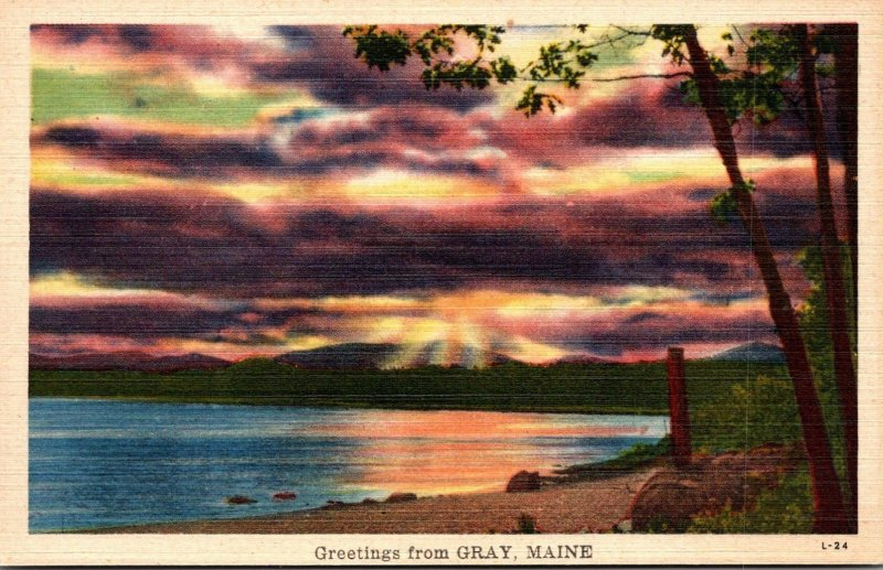 Maine Greetings From Gray