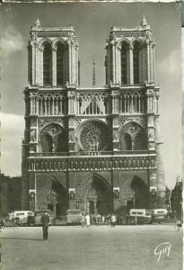 France, Paris, Cathedrale Notre Dame, 1930s unused Real P...
