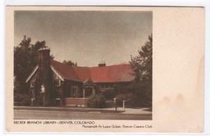Decker Branch Library Denver Colorado postcard