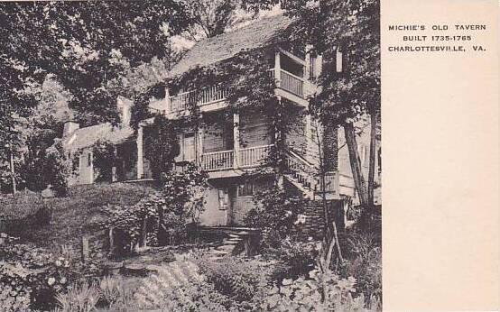 Virginia Charlottesville Michies Old Tavern Built 1735 Albertype