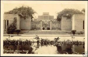 hawaii, HONOLULU, Mormon Temple (1930s) RPPC