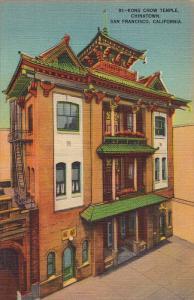 Kong Chow Temple, Chinatown, San Francisco, California, 30-40s
