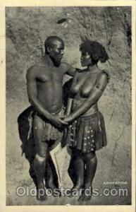 African Nude Nudes Postcard Post Card unused