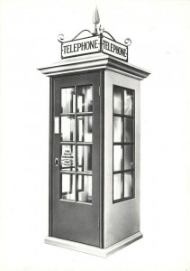 Vintage 1980s Postcard, 1st Standard Post Office Telephone Kiosk 1921 IR6