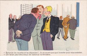 Political Comic postcard , France ,  10-30s # 15