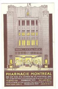 Pharmacie, Drug Store, Montreal, Quebec, Canada, 1940-1960s