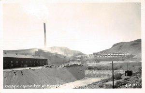 LP12  Copper Mining Smelter Morenci Arizona RPPC Postcard
