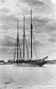 THE MIGRANT~3 MASTED SAILING SHIP-EDWIN LEVICK PHOTO NEW YORK POSTCARD