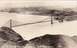 California Golden Gate Bridge 4200 Foot Span Cost $ 3,500,000 Real Photo