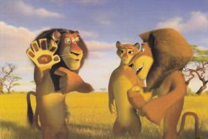 Three Lions , Movie art Postcard