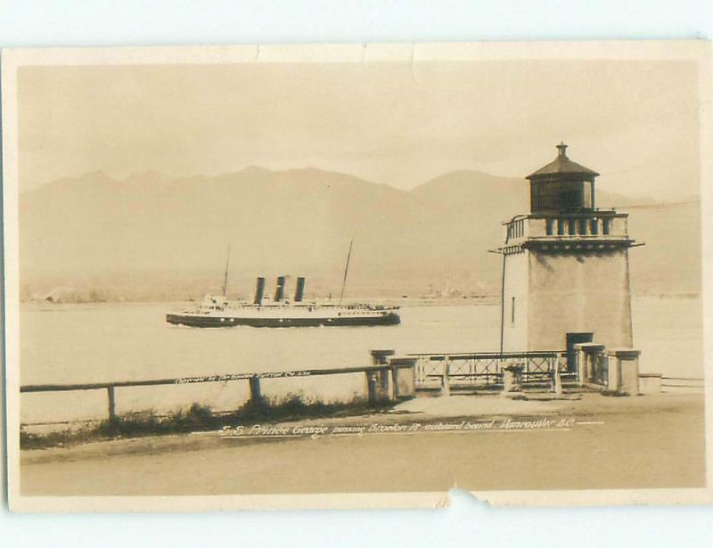 old rppc NICE VIEW Vancouver British Columbia BC W0788