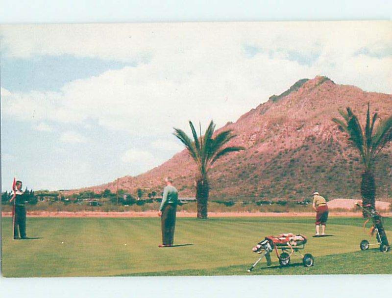 Chrome GOLFING AT THE VALLEY CLUB AT JOKAKE INN Scottsdale Arizona AZ AG5804