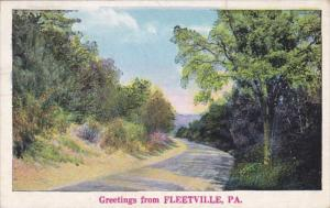 Greetings From Fleetville Pennsylvania 1936