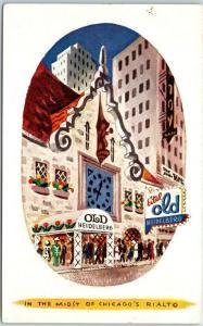 1950s Chicago Postcard EITEL OLD HEIDELBERG America's Most Colorful Restaurant
