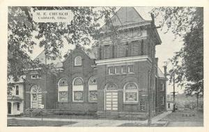 Caldwell OH~Methodist Episcopal Church~Stout Belltower~Stain Glass Windows 1940s