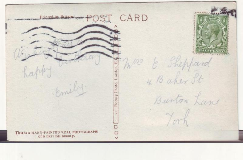 P300 JL old postcard great britain hand painted Br. beauty