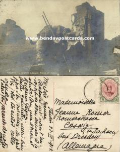 persia iran azerbaijan, TABRIZ TAURIS, Ruins of Blue Mosque, Islam (1914) RPPC