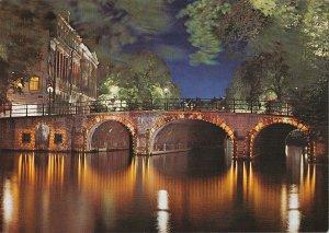 B108765 Netherlands Amsterdam Singel Picturesque Bridge Pont