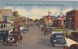 Massachusetts Cape Cod Wareham Main Street Post Office & Makepeace Bldg sk6468