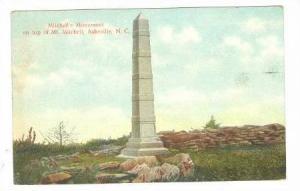 Mitchell's Monument, Asheville, North Carolina,PU-1909