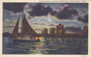 Evening Scene on Corpus Christi Bay, Corpus Christi, Texas, 30-40s