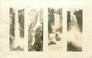 CA, Yosemite National Park, California, Falls, Multi View, RPPC