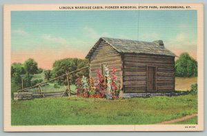 Harrodsburg Kentucky~Pioneer State Park~Lincoln Marriage Cabin~Vintage PC