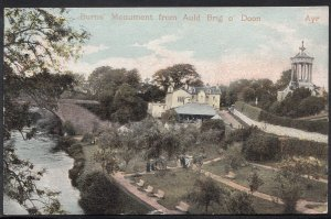 Scotland Postcard - Burns' Monument From Auld Brig o' Doon  A7471
